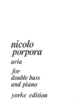 Aria - String bass piano Nicola Antonio Porpora Partition laflutedepan