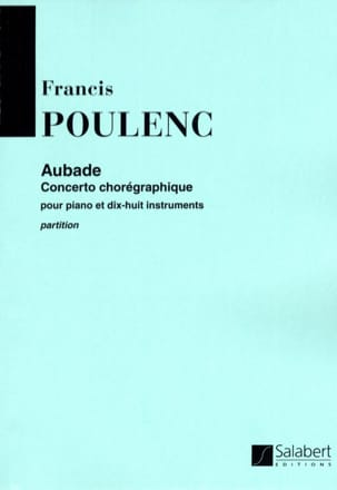 Aubade - Conducteur POULENC Partition Grand format - laflutedepan