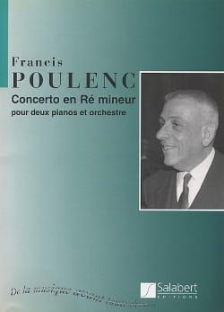 Francis Poulenc - Concerto en ré mineur pour 2 Pianos – Conducteur - Partition - di-arezzo.fr