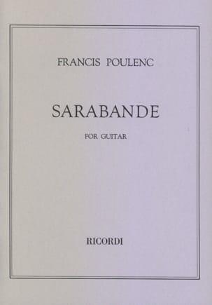 Francis Poulenc - Sarabande - Guitare - Partition - di-arezzo.fr