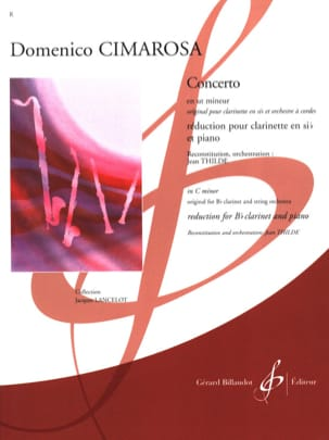 Domenico Cimarosa - Clarinet Concerto in C minor - Sheet Music - di-arezzo.co.uk