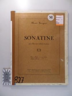 Henri Sauguet - Sonatine - Flute or violin and piano - Sheet Music - di-arezzo.com