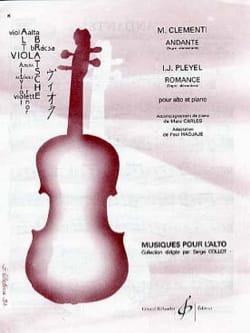 Clementi Muzio / Pleyel Ignaz - Andante / Romance - Partition - di-arezzo.fr