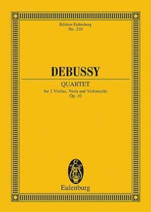 Quatuor à Cordes, Op. 10 DEBUSSY Partition Petit format - laflutedepan