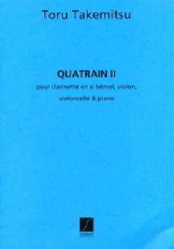 Quatrain 2 TAKEMITSU Partition Grand format - laflutedepan