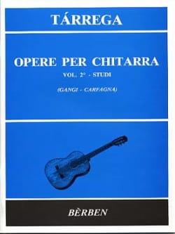 Francisco Tarrega - Opere Per Chitarra Volume 2: Studi - Sheet Music - di-arezzo.com