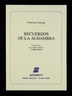 Francesco Tarrega - Recuerdos de la Alhambra - 4 Guitares - Partition - di-arezzo.fr