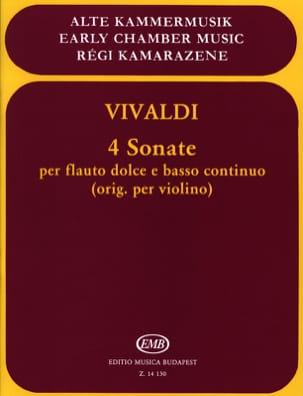 VIVALDI - 4 Sonatas - Flauto dolce e Bc - Sheet Music - di-arezzo.co.uk