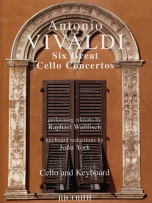 VIVALDI - 6 Great cello concertos - Sheet Music - di-arezzo.co.uk