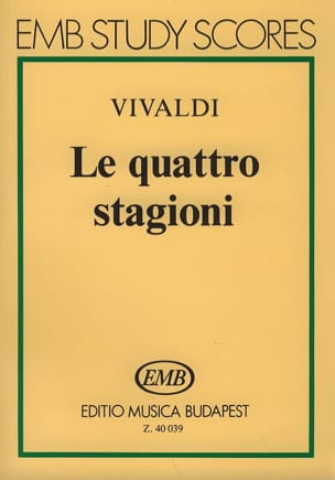 VIVALDI - The quattro stagioni - Partitura - Sheet Music - di-arezzo.co.uk