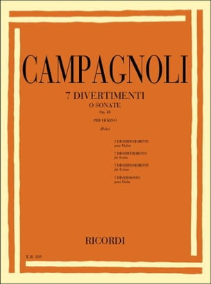 Bartolomeo Campagnoli - 7 Divertimenti op. 18 - Sheet Music - di-arezzo.co.uk