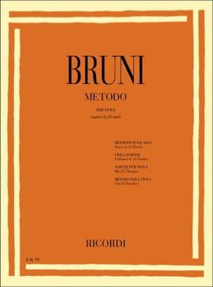 Metodo per viola Antonio Bartolomeo Bruni Partition laflutedepan