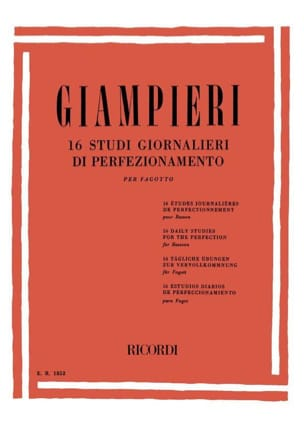Alamiro Giampieri - 16 Daily Improvement Studies for Bassoon - Sheet Music - di-arezzo.com