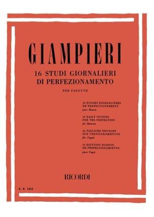 Alamiro Giampieri - 16 Etudes Journalières de Perfectionnement Pour Basson - Partition - di-arezzo.fr