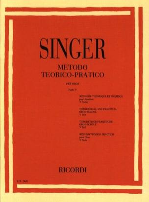 Sigismondo Singer - Metodo Theorico-Pratico - Oboe - Volume 5 - Partitura - di-arezzo.it