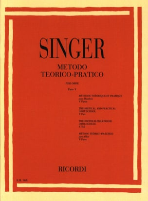 Sigismondo Singer - Theorico-Pratico metodo - Oboe - Volume 5 - Sheet Music - di-arezzo.co.uk