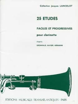 Jacques Lancelot - 25 Etudes faciles et progressives - Partition - di-arezzo.fr