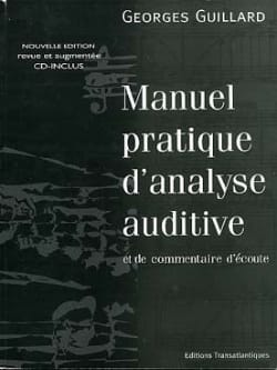 Manuel pratique d'analyse auditive Georges Guillard laflutedepan