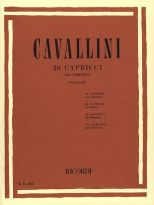 Ernesto Cavallini - 30 Capricci - Sheet Music - di-arezzo.co.uk