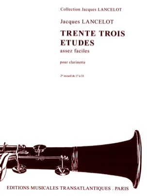 Jacques Lancelot - 33 Pretty Easy Studies - Volume 2 - Sheet Music - di-arezzo.co.uk