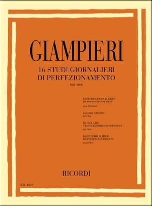 Alamiro Giampieri - 16 Studi giornalieri di perfezionamento – Oboe - Partition - di-arezzo.fr