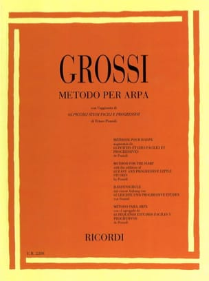 Maria Grossi - Method for harp - Sheet Music - di-arezzo.co.uk