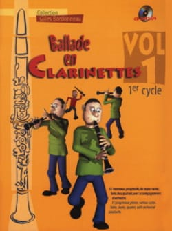Ballade en clarinettes - Volume 1 Cycle 1 Partition laflutedepan