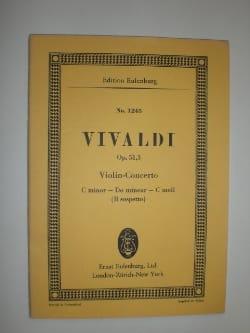 Antonio Vivaldi - Concerto Pour Violon Opus 51 N°3 Il Sospetto - Partition - di-arezzo.fr