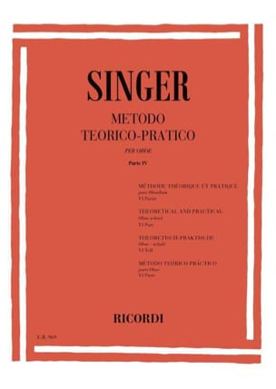 Sigismondo Singer - Metodo Theorico-Pratico - Oboe - Volume 6 - Partition - di-arezzo.fr