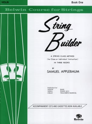 String Builder Volume 1 Samuel Applebaum Partition laflutedepan