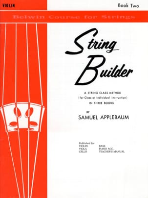 Samuel Applebaum - String Builder, Volume 2 - Violin - Sheet Music - di-arezzo.co.uk