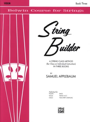 String Builder, Volume 3 - Violin Samuel Applebaum laflutedepan