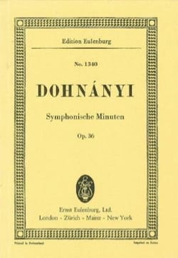 Symphonische Minuten, op. 36 DONHANYI Partition laflutedepan