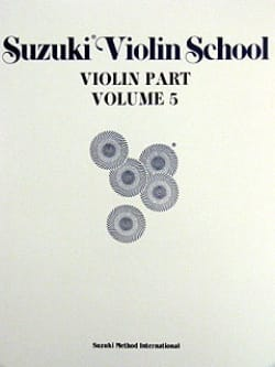 Violin School Vol.5 - Violin Part SUZUKI Partition laflutedepan