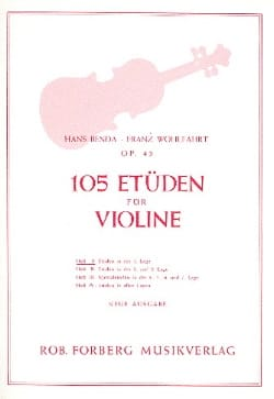 Benda Hans / Wohlfahrt Franz - 105 Studies op. 45, Volume 1 - Sheet Music - di-arezzo.com