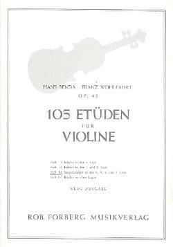 Benda Hans / Wohlfahrt Franz - 105 Studies op. 45, Volume 3 - Sheet Music - di-arezzo.com