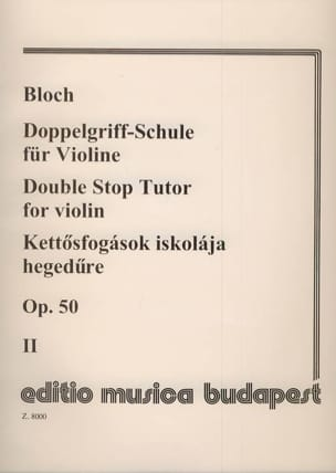 Jozsef Bloch - Doppelgriff-Schule op. 50 - Bd. 2 - Sheet Music - di-arezzo.co.uk