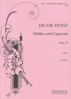 Jacob Dont - 24 Studies and Caprices op. 35 Flesch - Sheet Music - di-arezzo.co.uk