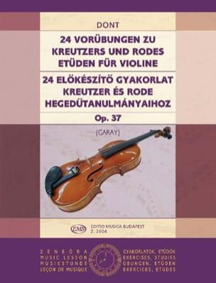 Jacob Dont - 24 Etudes préparatoires op. 37 (Garay) - Partition - di-arezzo.fr