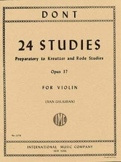 Jacob Dont - 24 Preparatory studies op. 37 Galamian - Sheet Music - di-arezzo.com