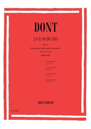 Jacob Dont - 24 Preparatory studies op. 37 Zanettovich - Sheet Music - di-arezzo.co.uk