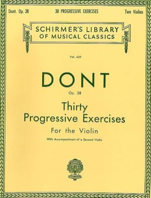 Jacob Dont - 30 Progressive studies op. 38 - Sheet Music - di-arezzo.co.uk