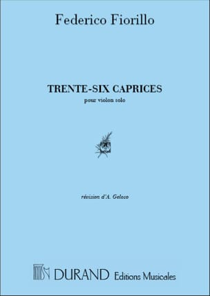 Frederigo Fiorillo - 36 Caprices - Sheet Music - di-arezzo.co.uk