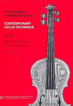Galamian Ivan / Neumann Frederick - Contemporary Violin Technique Volume 1 - Sheet Music - di-arezzo.com