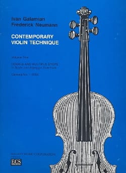 Galamian Ivan / Neumann Frederick - Contemporary Violin Technique Volume 2 - Partition - di-arezzo.fr