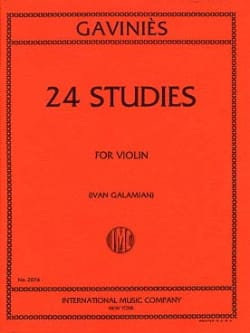 Pierre Gaviniès - 24 Galamian Studies - Sheet Music - di-arezzo.co.uk