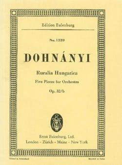 Ruralia Hungarica, op. 32b - Ernst von Dohnányi - laflutedepan.com
