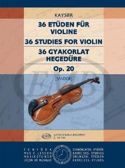 36 Etudes op. 20 - Volume 3 Sandor Heinrich Ernst Kayser laflutedepan