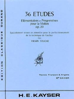 36 Etudes op. 20 - Volume 2 Touche - laflutedepan.com