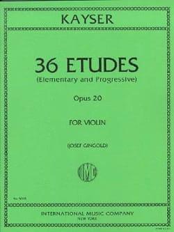 Heinrich Ernst Kayser - 36 Etudes - Opus 20 - Partition - di-arezzo.fr